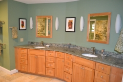 Artful and elegant new master bath